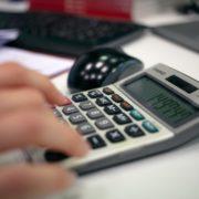 Calculadora, cuentas anuales.